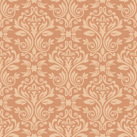 damask: Damask seamless pattern for design  Vector Illustration Illustration