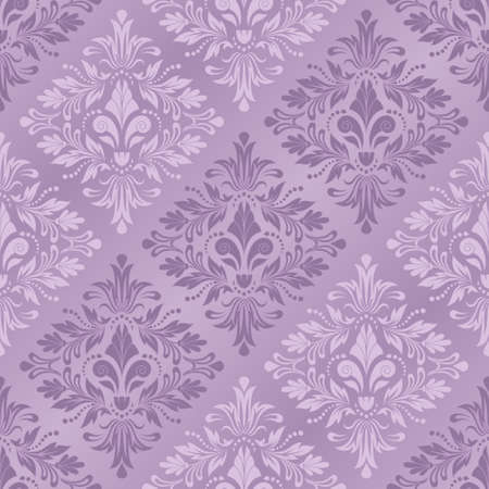 seamless damask: Damask seamless pattern for design. Vector Illustration