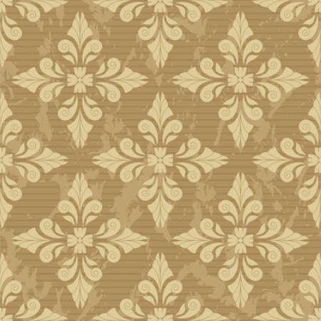 Damask seamless pattern for design. Vector Illustration Vector