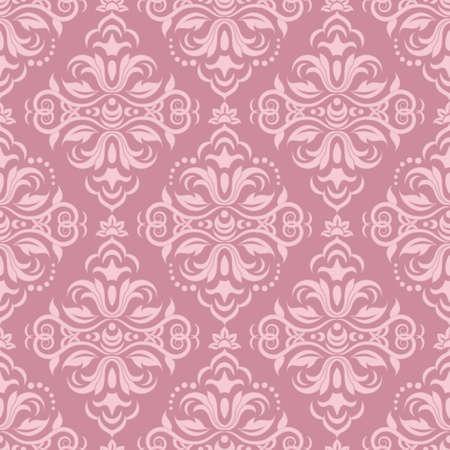 damask pattern: Damask seamless pattern for design. Vector Illustration