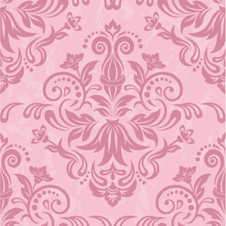 damask: Damask seamless pattern for design. Vector Illustration