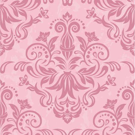 damast: Damast nahtlose Muster f�r Design. Vektor-Illustration