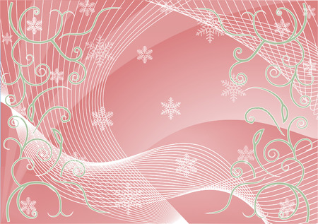 tonality: WinterChristmas background with snowflakes for your design in white and pink colors