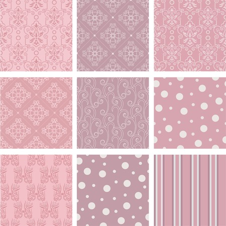 damask pattern: Seamless background Collection, vector Illustration
