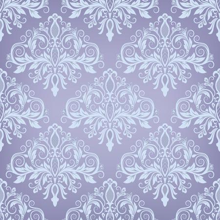 damask background: Damask seamless pattern for design. Vector Illustration