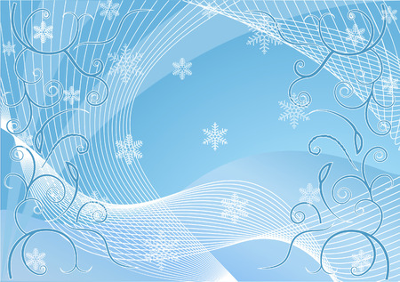 tonality: Christmas background with snowflakes for your design in white and blue colors Illustration