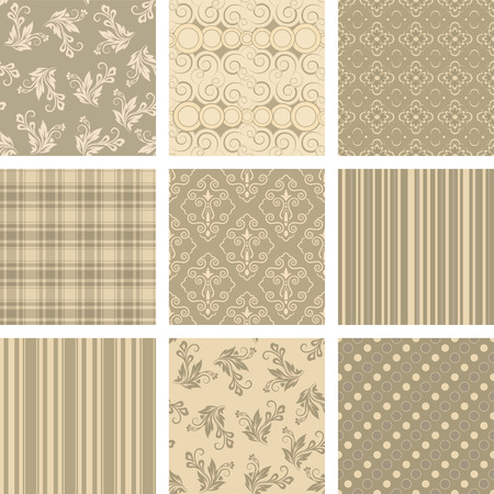 chocolate swirl: Seamless background Collection, vector Illustration