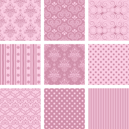 scroll background: Seamless background Collection, vector Illustration