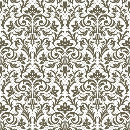chequered drapery: Seamless floral pattern for design, vector Illustration
