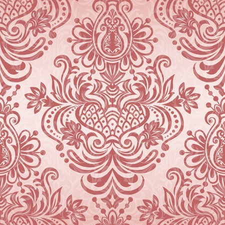 chequered drapery: Ornate Seamless floral pattern for design, vector Illustration.