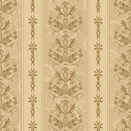 Brown Seamless background with stripes for design, vector Illustration