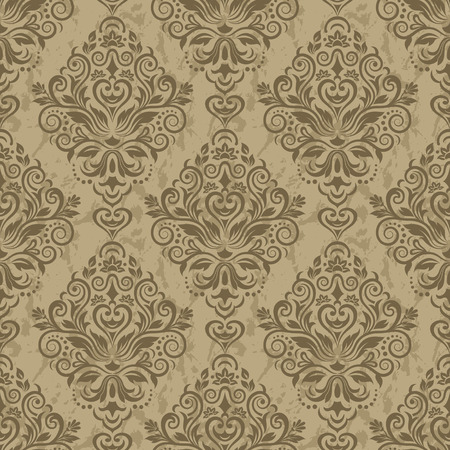 abstract flowers: Damask seamless pattern for design. Vector Illustration