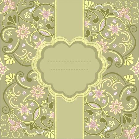 ostern: Template frame design for greeting card, vector Illustration