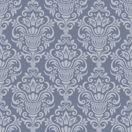 repetition: Damask seamless pattern for design. Vector Illustration