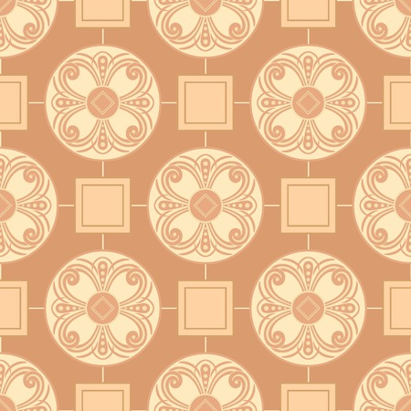 regular tetragon: Seamless floral pattern for design, vector Illustration