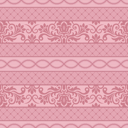 baroque: Seamless background with stripes for design, vector Illustration