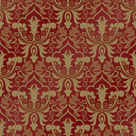 baroque: Damask seamless pattern for design vector illustration