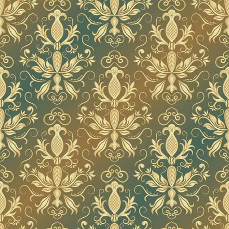 baroque: Damask seamless pattern for design. Vector Illustration