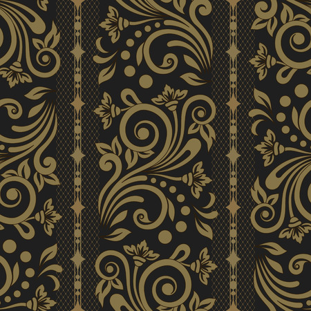 baroque: Damask seamless floral background pattern. Vector illustration