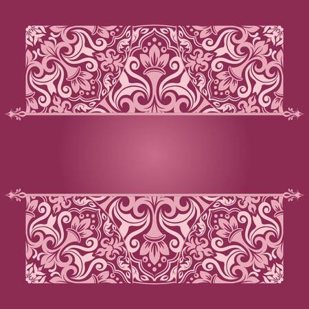 baroque: Template frame design for greeting card, vector Illustration