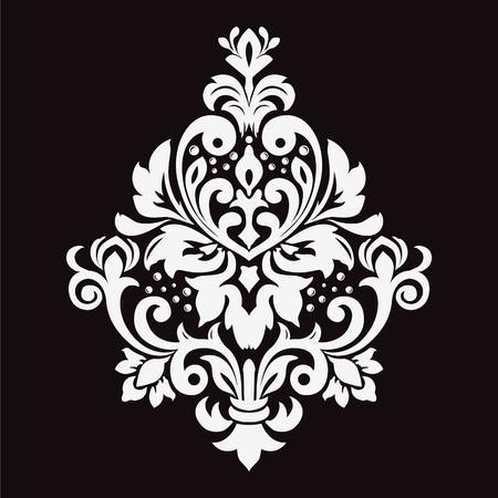 Damask seamless floral background pattern. Vector illustration
