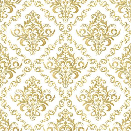Damast naadloos patroon voor ontwerp. Vector illustratie