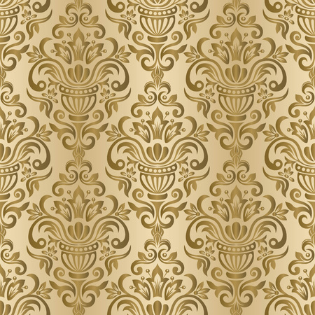 Seamless vintage wallpaper or background for design