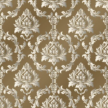 Seamless vintage wallpaper or background for design. Stock Illustratie
