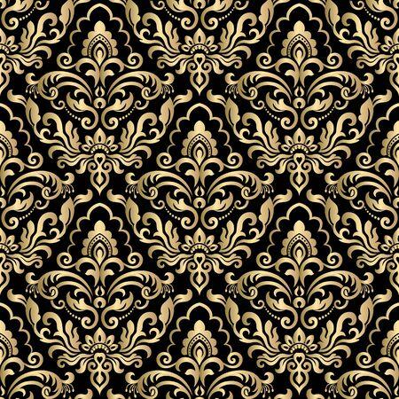 Seamless pattern with damask ornament. Damask wallpaper. 일러스트