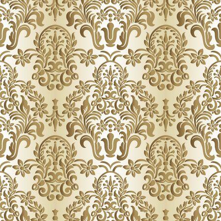 Vector vintage floral seamless pattern element. 일러스트