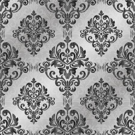 Damasco de patrones sin fisuras para el diseño. Ilustración vectorial