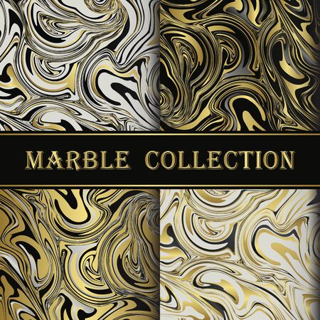 colorful marbling surface, golden lines, vibrant abstract paint design, vector illustration