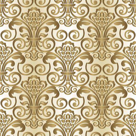 Damask seamless pattern for design. Vector Illustration Vector Illustration