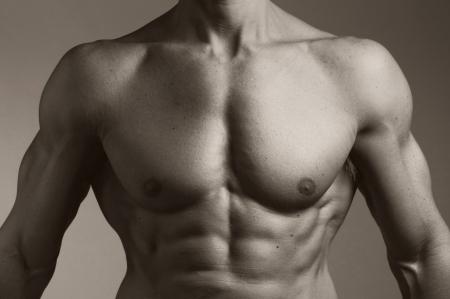 male nude: il busto di un uomo muscoloso