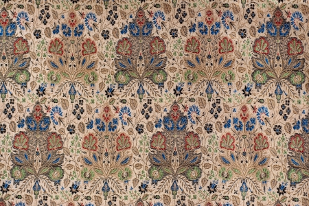 Vintage Chinese Silk Fabric with a Floral Pattern Фото со стока - 15357056