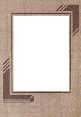 artdeco: A brown Art-Deco vintage paper photo frame