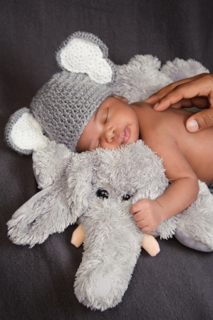 Newborn Baby Boy in Elephant Costume photo