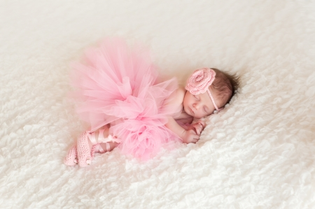 ballet slipper: Newborn Baby Girl Wearing a Ballerina Tutu