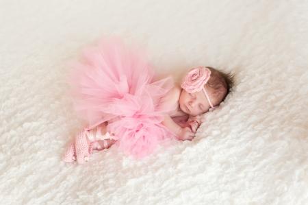 Newborn Baby Girl Wearing a Ballerina Tutu