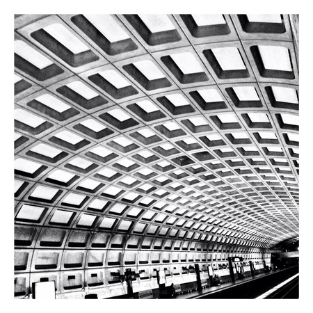 architecture: Metrorail Station in Washington DC Stock Photo