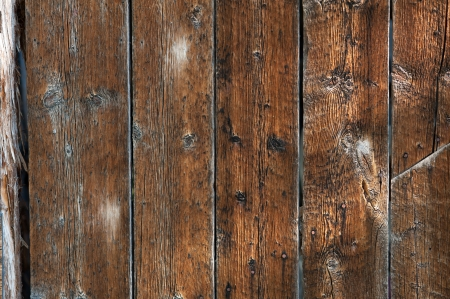 barn wood: A detail shot of a rustic barn wood wall on an old wooden outbuilding on a Colorado farm  Stock Photo