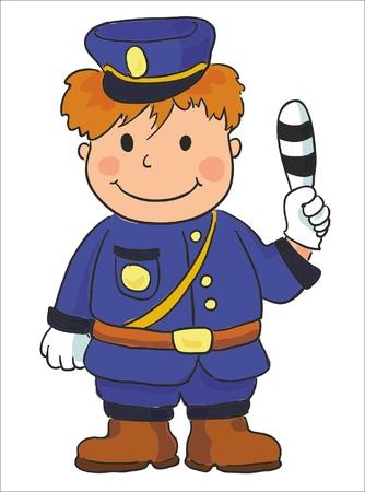 patrolman: vector illustration- policeman