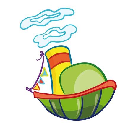 vector illustration - ship Vector