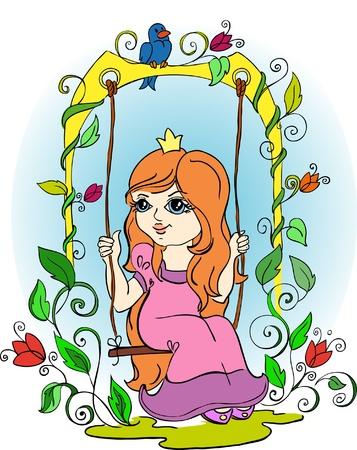 vector illustration-little princess Vector
