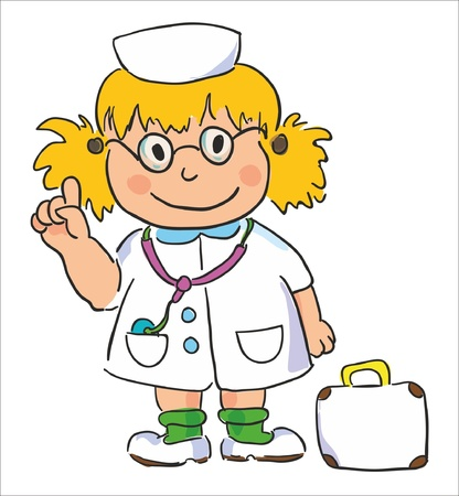 nursing uniforms: vector illustration- doctor