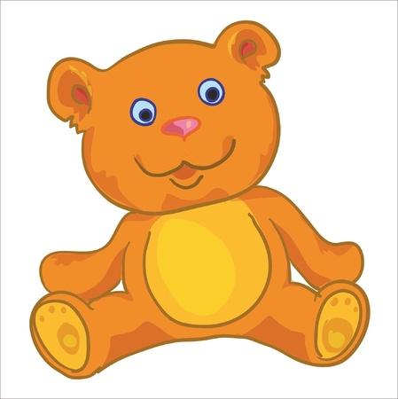 illustration - little bear cub  on white background Vector