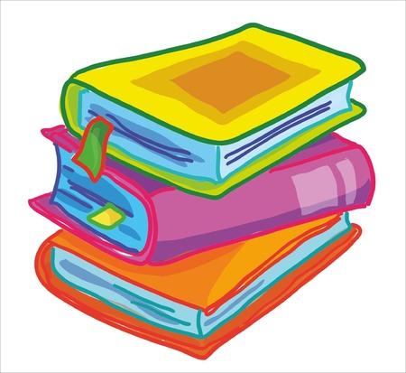 yellow tassel: illustration- gross books on white background