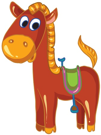 cartoon illustration- funny horse on white background Illustration