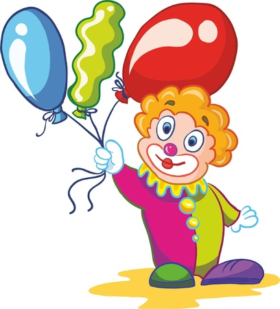 Illustration- clown on white background Vector