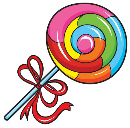colorful lollipop, vector illustration on white background